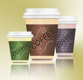 Coffee containers. Stock Images