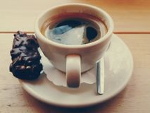 Coffee and a cookie Royalty Free Stock Images
