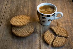 Coffee and Cookie for a good breakfast! Stock Photo