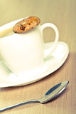 Coffee and cookie Royalty Free Stock Image