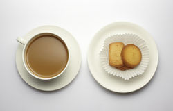 Coffee with cookie isolated on whit Stock Image
