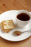 Coffee , cookie and jam Stock Image