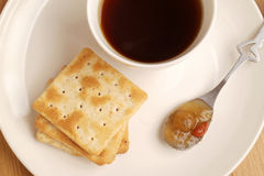 Coffee , cookie and jam Royalty Free Stock Photos