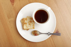 Coffee , cookie and jam Royalty Free Stock Images