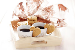 Coffee with cookie Royalty Free Stock Images