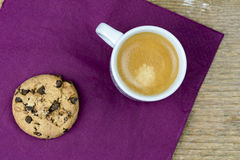 Coffee and cookie Stock Image