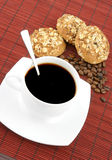 Coffee with cookies Stock Images
