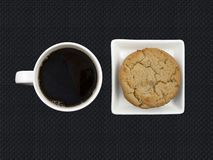 Coffee and cookies Stock Photos
