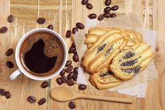 Coffee and cookies for breakfast Stock Photo