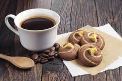 Coffee with cookies Stock Photography