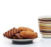 Coffee with cookies Stock Photos