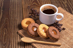 Coffee with cookies Royalty Free Stock Images