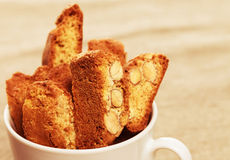 Coffee cookies in a cup Stock Photography