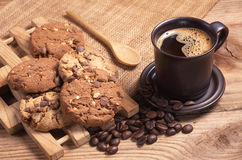 Coffee and cookies Stock Photography