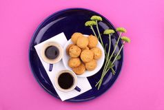 Coffee, Cookies, Cups Stock Photography