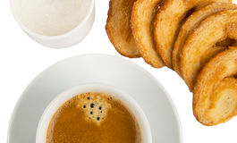 Coffee and cookies detail Royalty Free Stock Image