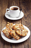 Coffee and cookies with nuts Stock Photos