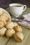 Coffee and cookies on the table. Coffee and sweet biscuits on the table Stock Images