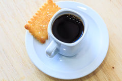 Coffee with Cookies on Wooden Table. Stock Photography