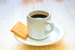 Coffee with Cookies on Wooden Table. Coffee with Cookies on Wooden Table stock photos