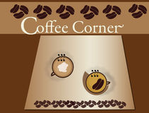 Coffee Corner Coffee Cups Royalty Free Stock Photos