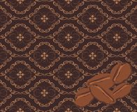 Coffee corns on the decorative background. Banner Royalty Free Stock Images