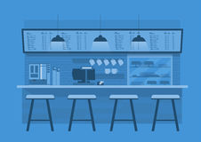 Coffee counter in Blue monotone color background Stock Photos