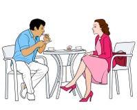 coffee couple drinking διανυσματική απεικόνιση