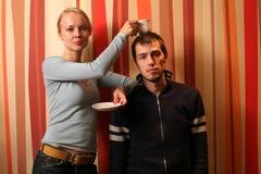 coffee couple young Στοκ Εικόνες