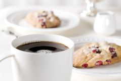 Coffee and Cranberry Scones Stock Image