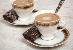 Coffee with the cream. Royalty Free Stock Images