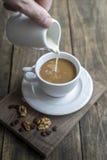 Coffee and cream. Stock Photos