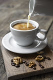 Coffee and cream. Royalty Free Stock Photo