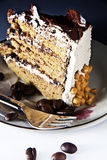 Coffee cream cake Royalty Free Stock Images