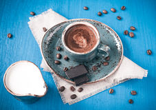 Coffee with cream and chocolate Royalty Free Stock Photo