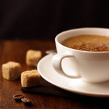Coffee with cream foam Royalty Free Stock Images
