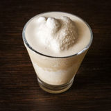 Coffee cream. In a glass Royalty Free Stock Images