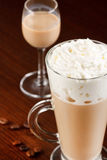 Coffee with cream liqueur Stock Images