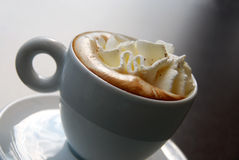 Coffee with cream melting Stock Image