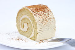 Coffee Cream Roll Royalty Free Stock Photography