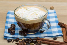 Coffee with cream Royalty Free Stock Images