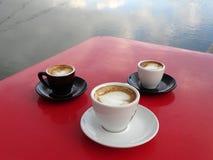 Coffee with cream stock image