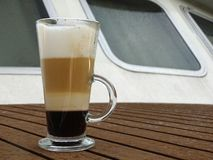 Coffee with cream stock photography