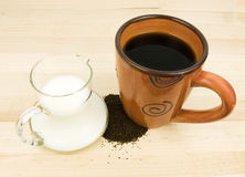 Coffee with Creamer Royalty Free Stock Image