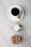 Coffee Creamer Natural Sugar Stock Images