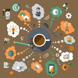 Coffee creative concept Royalty Free Stock Photography