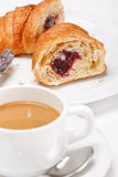 Coffee and croissant Royalty Free Stock Photos