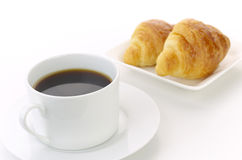 Coffee with croissant Royalty Free Stock Photo