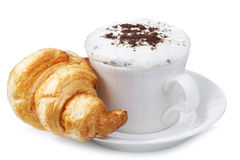 Coffee and croissant Royalty Free Stock Photo