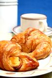 Coffee and croissant. Breakfast of coffee and croissant royalty free stock image
